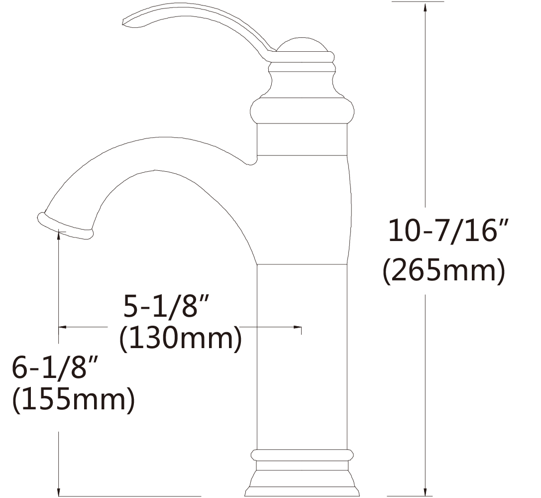 1 Hole Lead Free Brass Faucet In Chrome