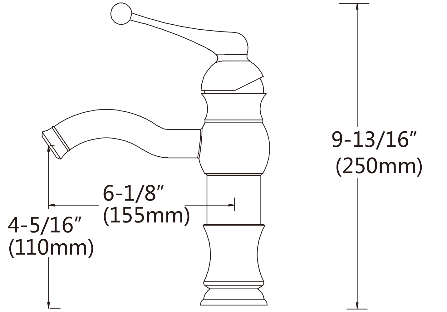 1 Hole Lead Free Brass Faucet In Brushed Nickel