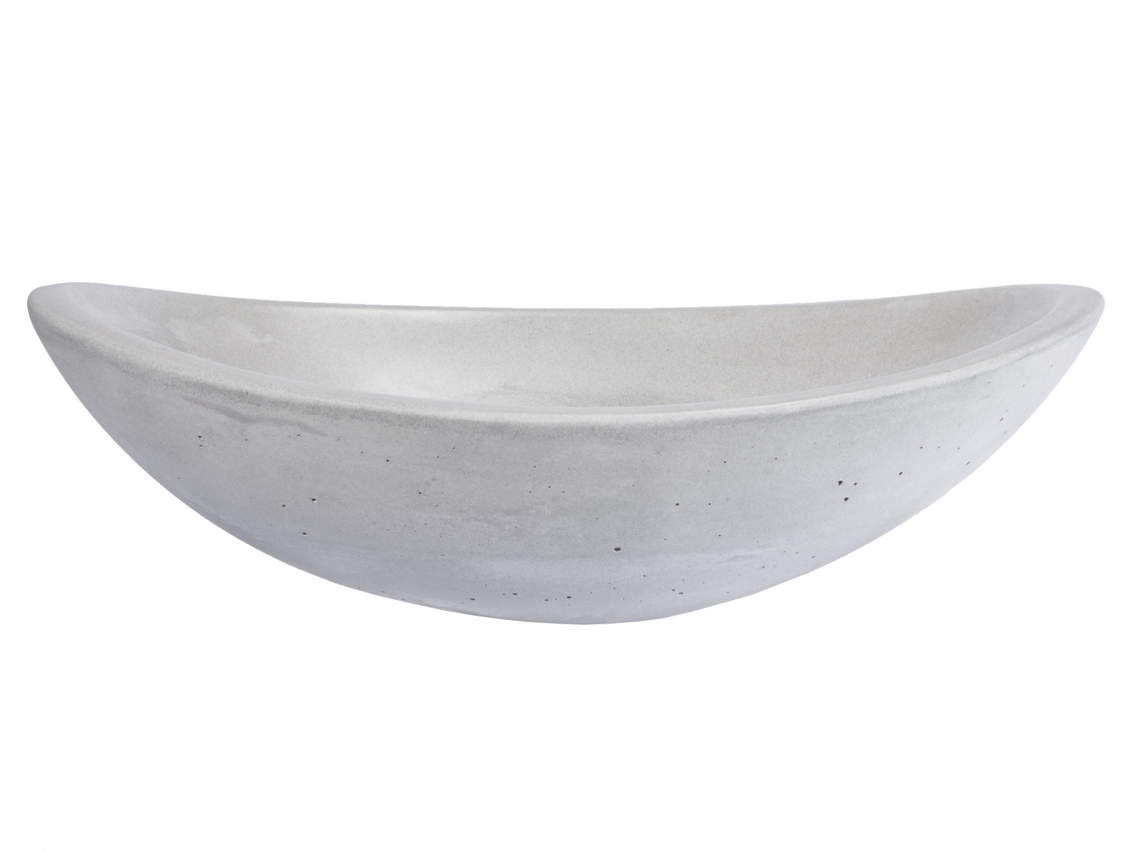 Concrete Vessel Sinks | Natural Vessel Sinks-Concrete Canoe Vessel Sink - Light Gray
