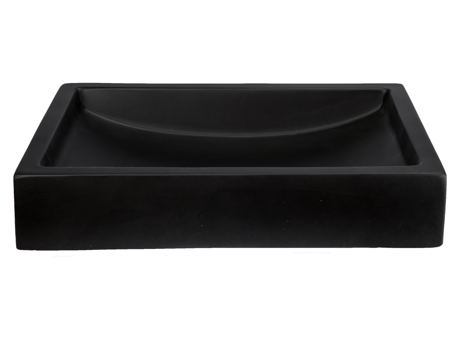 Concrete Vessel Sinks | Natural Vessel Sinks-22-in. Shallow Wave Concrete Rectangular Vessel Sink - Charcoal