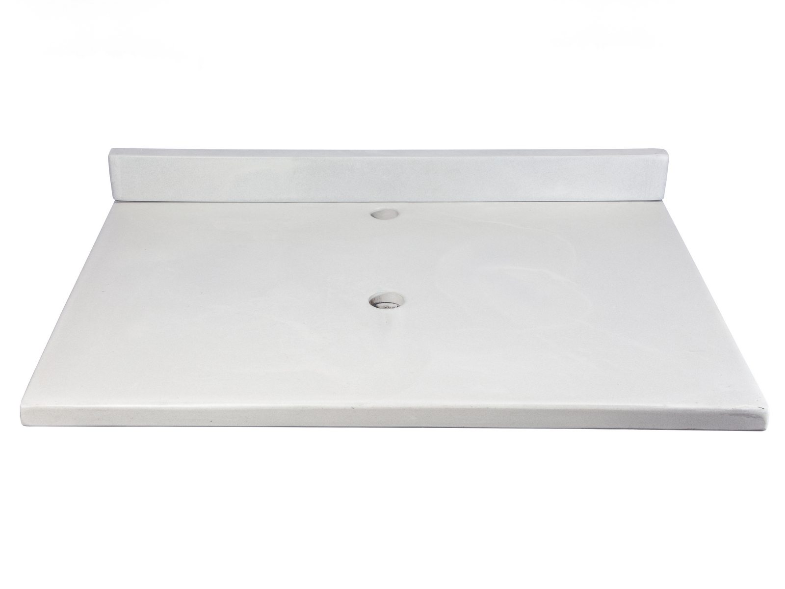 Concrete Countertops-31-in x 22-in Concrete Counter Top with Back Splash - Light Gray